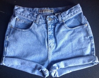 Light Wash High Waisted Shorts ALL SIZES