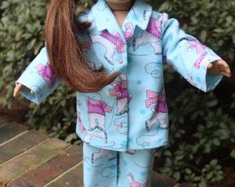 American Girl Sleeping Bag and Sleepwear, Pajamas, lounge wear set
