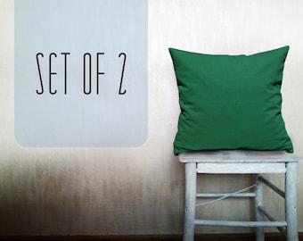 Outdoor pillows decorative throw pillows emerald pillow cover throw pillow green throw pillow natural linen throw pillow case 12x12 inches