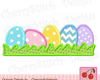 Easter eggs Machine Embroidery Applique Design -5x7 6x10 hoop