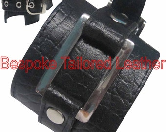 Crocodile Style Leather Wristbands With H-Buckle WBN003