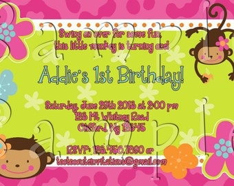 Monkey Love Invitation