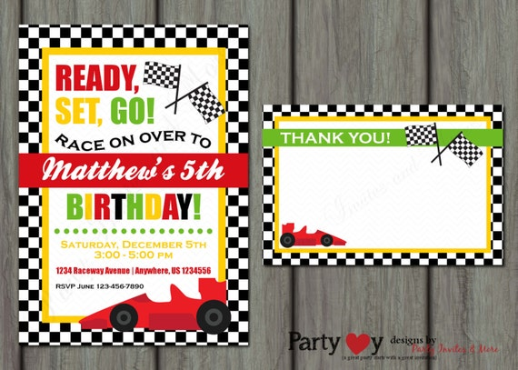 Go Kart Party Invitations are Beautiful Layout To Make Luxury Invitations Card