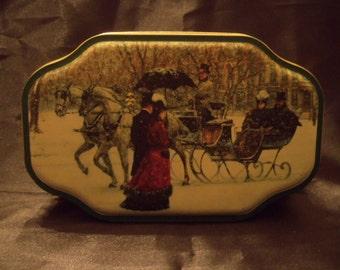 Victorian scene tin.