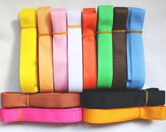 Colorful Velcro Hook and Loop Tape (12 Colors, 100cm each)