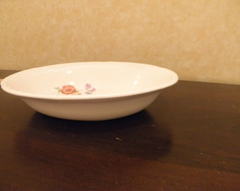 Pair of Crooksville China Floral Serving Bowls