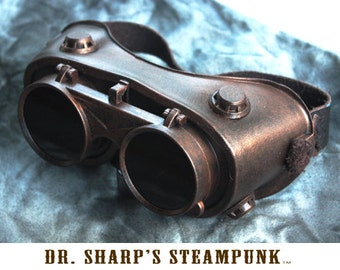 Bronze Finish Steampunk Goggles by Dr. Sharp