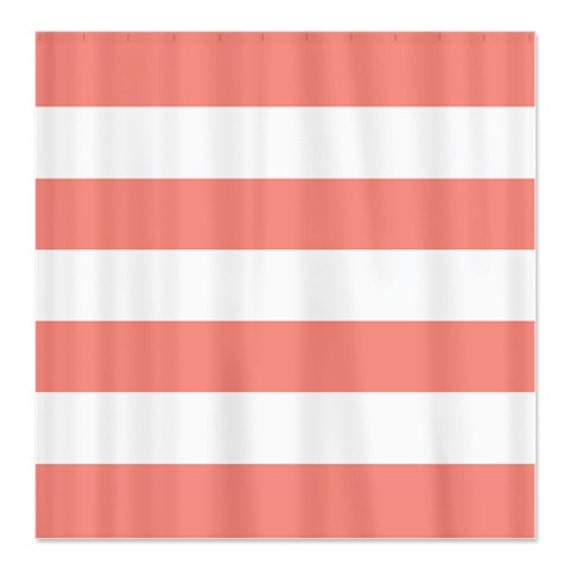 navy coral shower curtain. Large Striped Custom Shower Curtain Navy Blue and White Stripes OR Choose  Colors Standard Extra long sizes available