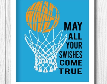 Personalized Sport Print Kids Decor Basketball Print