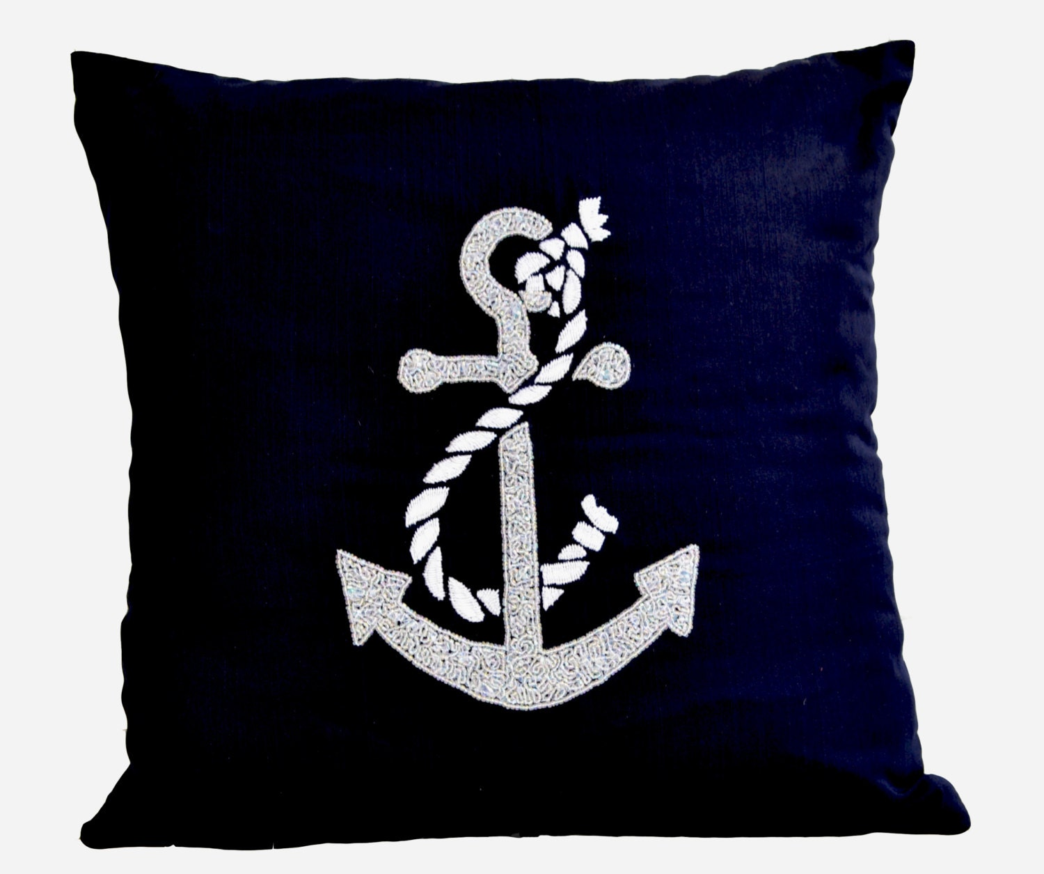 Throw Pillow Covers Nautical : Anchor Decorative Throw Pillows Cushion Cover Nautical Ocean