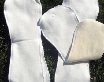 AI2 Snap-In Bamboo/Hemp Cloth Diaper Insert  (made to order)