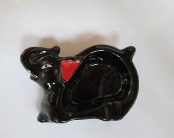 Vintage Redware Elephant Ashtray