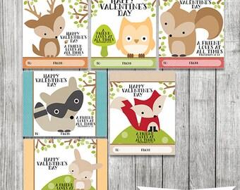 small woodland animal valentine cards christian valentine cards kids valentine cards set of