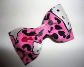 Preppy Hello Kitty Leopard Pink Hair Bow