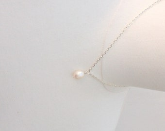 Pearl Necklace, Freshwater Pearl Necklace, Simple Pearl Necklace, Dainty Jewelry, Simple Necklace
