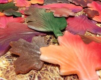 Fondant Fall Leaves Cake Decorations