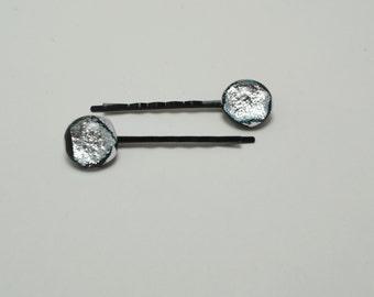 Shiny Silver Bobby Pins.