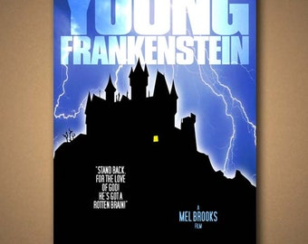 "YOUNG FRANKENSTEIN Movie ""Rotten Brain"" Quote Poster"