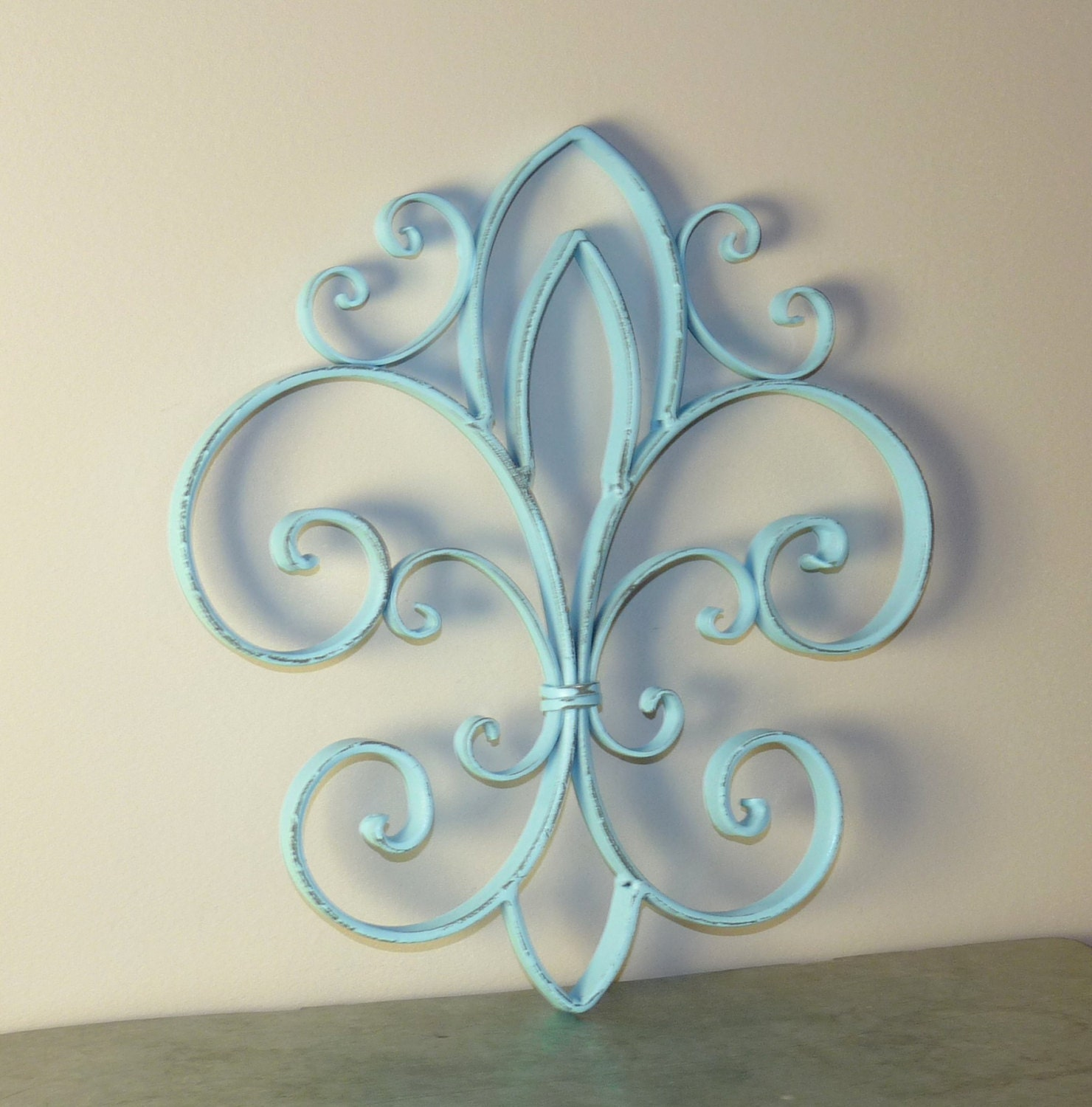 fleur de lis wrought iron wall decor french by littleshopofpop. Black Bedroom Furniture Sets. Home Design Ideas