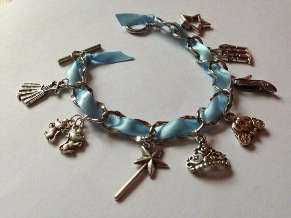 items similar to cinderella inspired charm bracelet on etsy