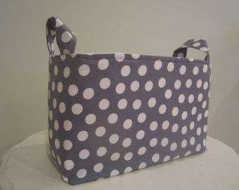Small Fabric Bin - Diaper caddy - Nursery Decor - Dorm Organization