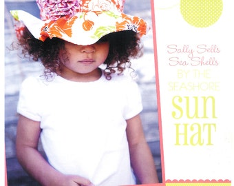 """Pattern """"Sally Sells Sea Shells by the Seashore"""" Sun Hat - Multi Size Paper Sewing Pattern by Izzy & Ivy Designs"""