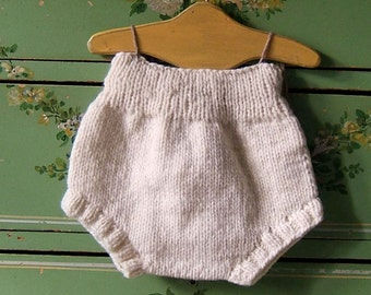 18M Cream Wool Soaker Cloth Diaper Cover by Llamajama 1505.101.18M