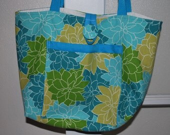 Bright Tropical Flowered Bag