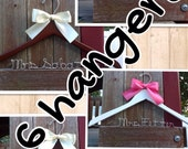 SIX  wedding hangers / SHIPS From USA / Personalized Wedding Hanger / Brides Hanger