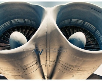 Aviation Photography, B-52 Bomber Engine Pod, Metallic Photographic Print
