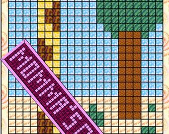 Giraffe Patchwork Quilt Block Pattern