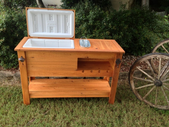 Rustic Cooler Table Shipped Or Free Pick-up By RusticWoodWorX