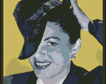 Judy Garland - Counted Needle Point and Cross Stitch Chart Patterns