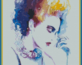 Contemplation - Counted Needle Point and Cross Stitch Chart Patterns