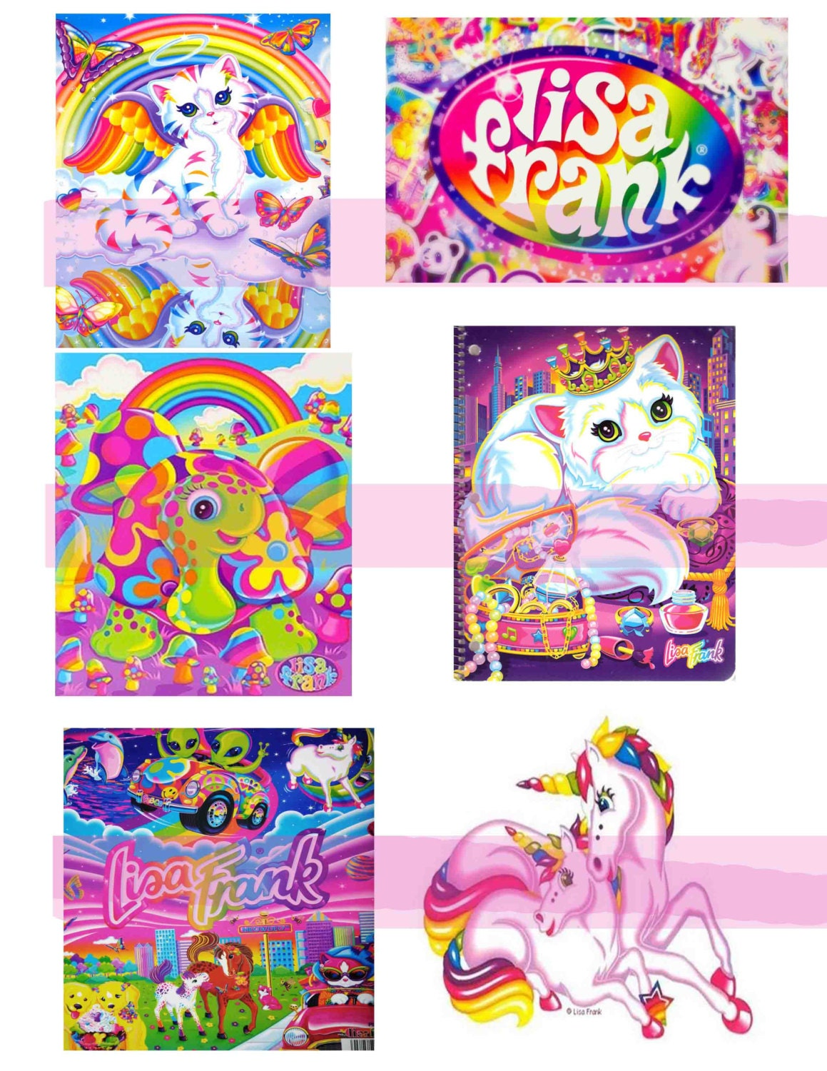 Lisa Frank Shrinky Dinks Sheets 8 5x11 Sheet By Urdesigns