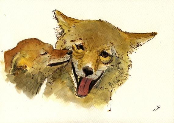 wolf kissing its cub - photo #9