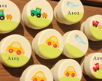 Transportation Drawer boy Knobs, Car Knobs, Airplane Knobs, Train Dresser Knobs - Made-to-Order