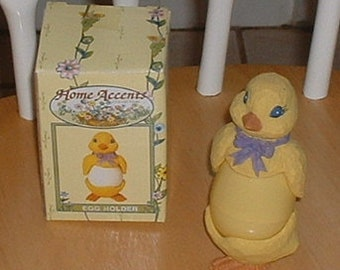 Two piece Easter Chick Egg Cup in original box by Home Accents Easter Collectible