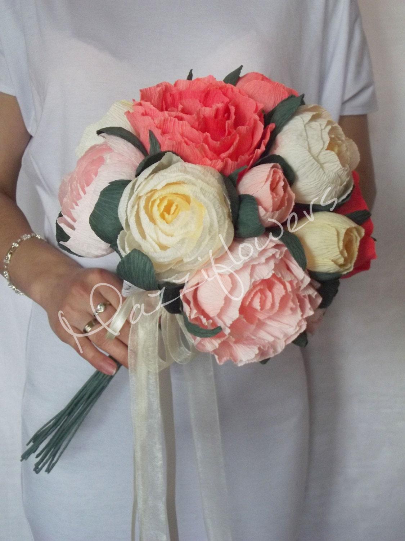 Button Bridal Bouquet Etsy : Wedding bouquet bridal bouquetpaper flower bouquetwedding