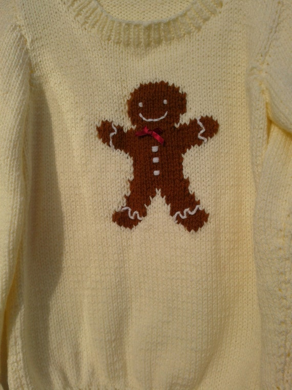 Gingerbread Man Jumper Knitting Pattern : Gingerbread Man Jumper chunky knitting pattern
