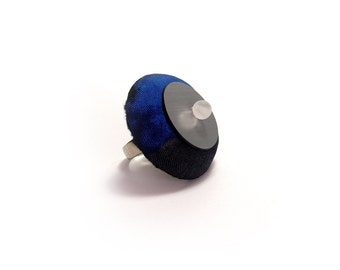 30% OFF  Handmade Ring in shades of blue