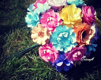 XXXL paper flowers wedding bouquet.