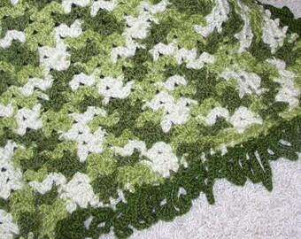 Crocheted Multi color Blanket