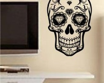 Wall Vinyl Sticker Decals Decor Art Bedroom Design Mural Sugar Skull Version 12  SugarskullSALE item Newly Discounted for limited time