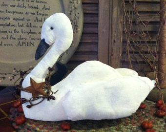 Primitive Country Long Neck Swan