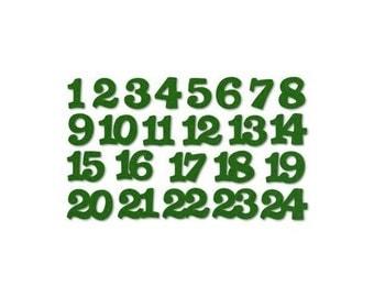 Felt Advent Numbers - green