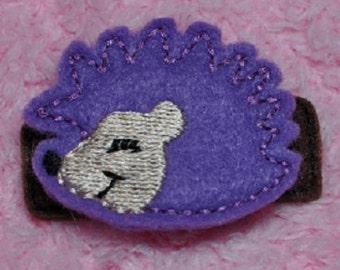 Hedgehog Embroidery Design Feltie