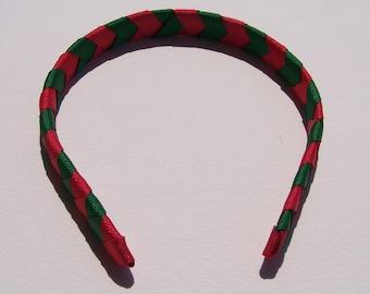 Christmas themed Chevron Headband