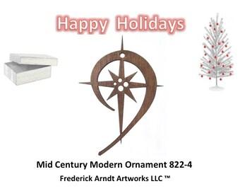 822-4 Mid Century Modern Christmas Ornament