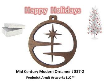 837-2 Mid Century Modern Christmas Ornament